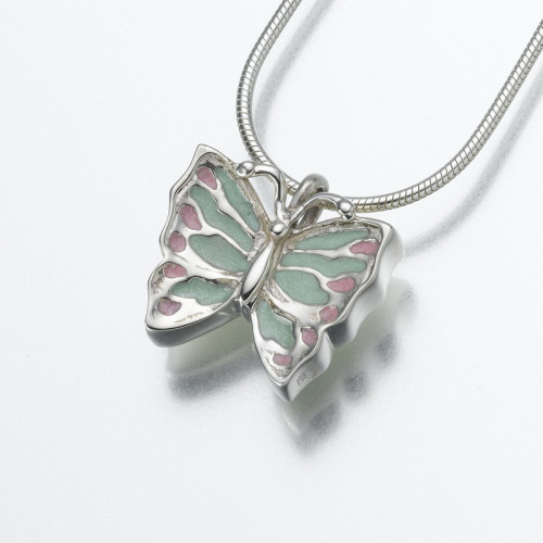 Butterfly Cremation Pendant in Sterling Silver