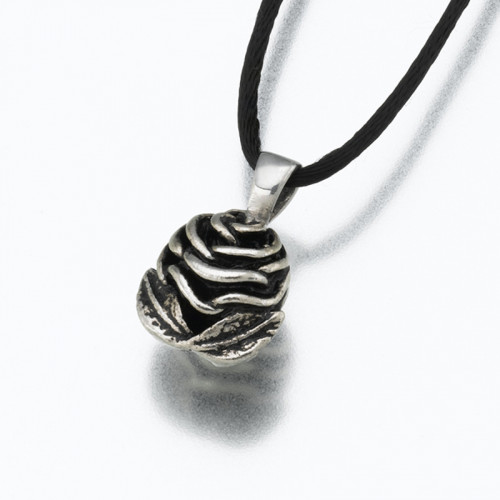 Rose Cremation Pendant in Sterling Silver