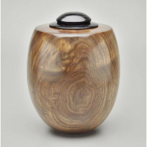 Hand Turned American Black Walnut Urn