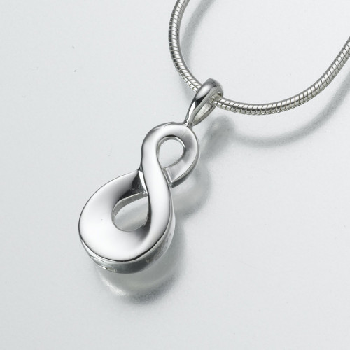 Infinity Cremation Pendant in Sterling Silver