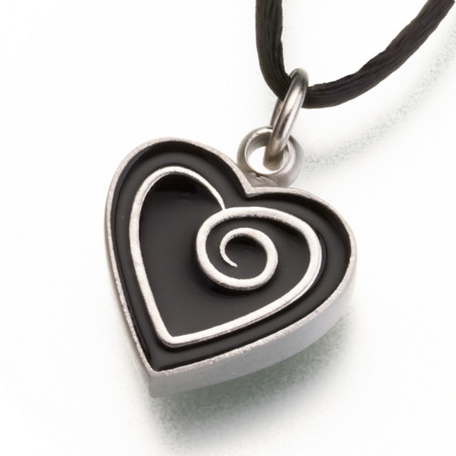 Pewter Heart Cremation Pendant