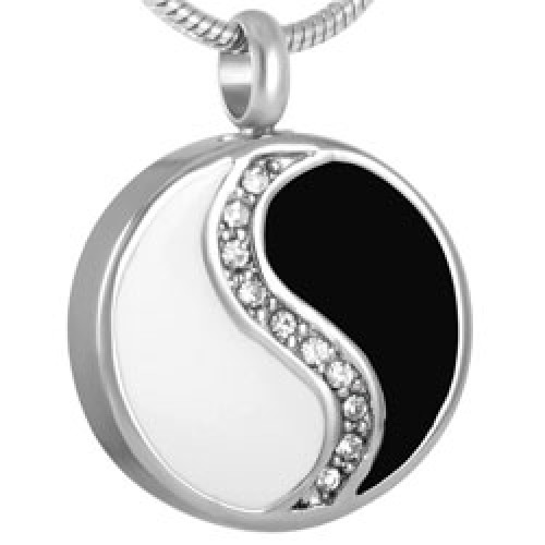 Cremation pendant that holds ashes necklace yin yang pendant yin yang cremation pendant aloadofball Gallery