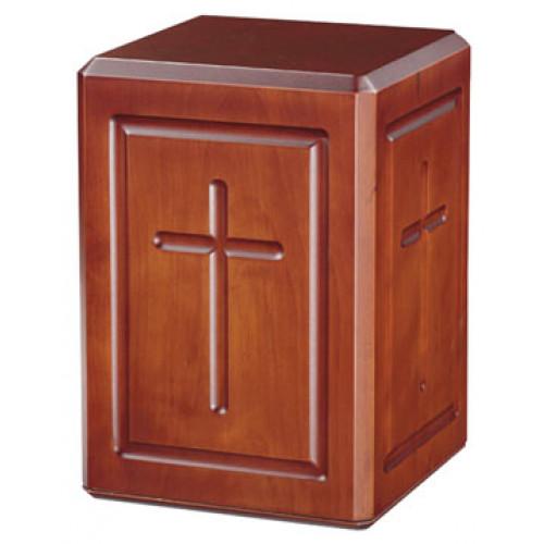 Calvary Wood Urn