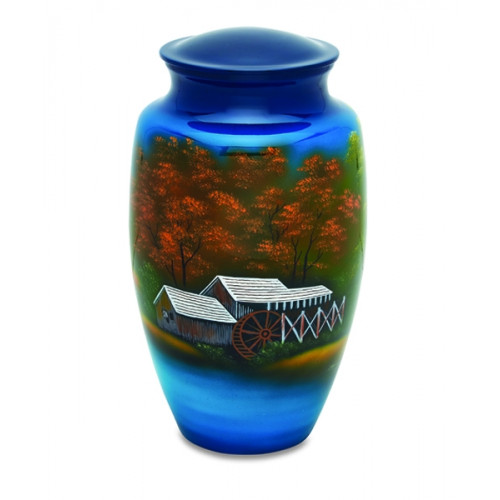 Autumn Foliage Cremation Urn for Ashes
