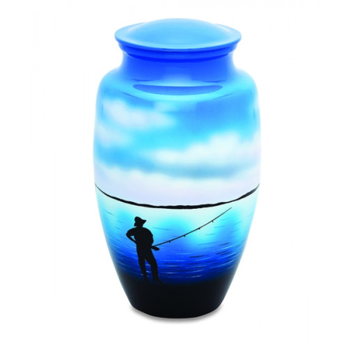 Gone Fishing Cremation Urn