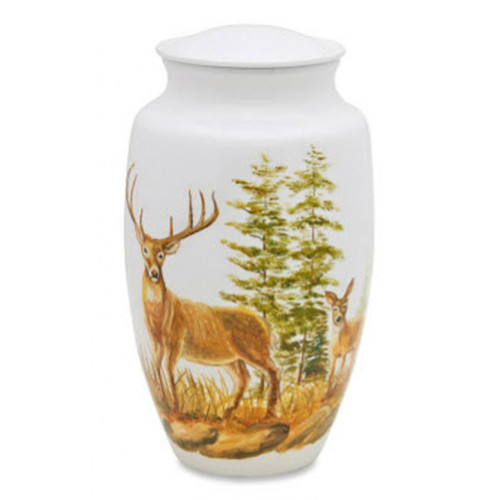 Buck and Doe Deer Cremation Urn for Ashes