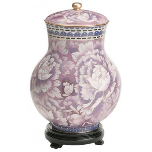 Purple Floral Cloisonne Urn