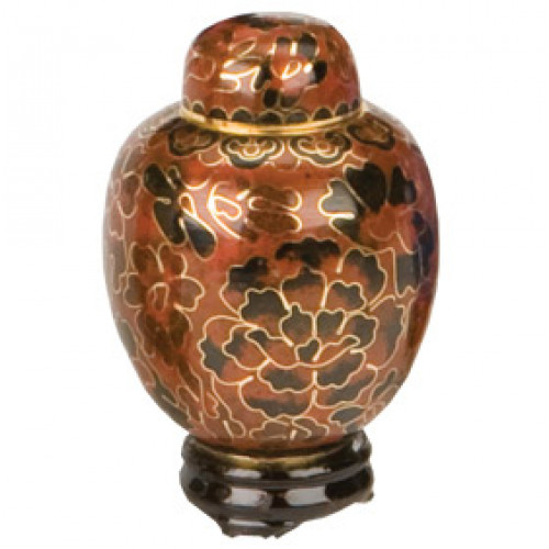 Amber Cloisonne Keepsake Miniature Urn Cremation Solutions