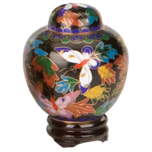 Butterfly Cloisonne Keepsake Miniature Urn