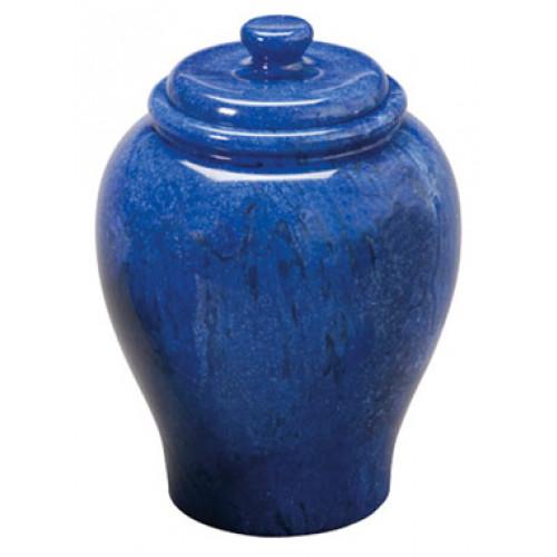 Cobalt Blue Marble Urn