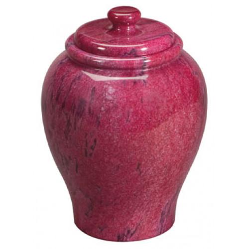 Garnet Red Marble Urn