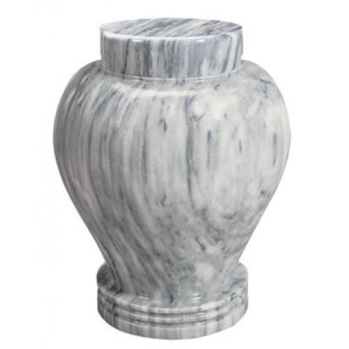 Silver Cloud Marble Keepsake Urn