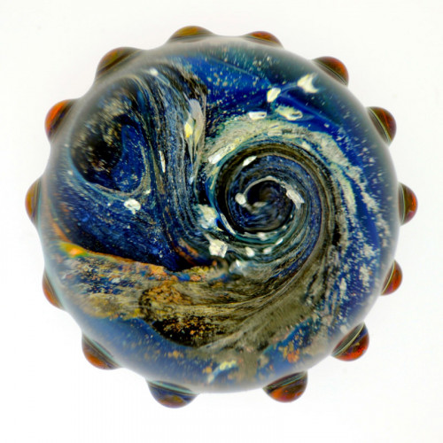 Celestial Life Orb Paperweight Glass Cremation Ashes
