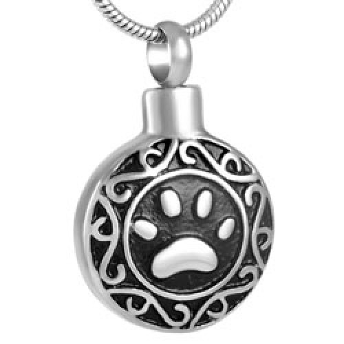 Ornate Paw Cremation Pendant