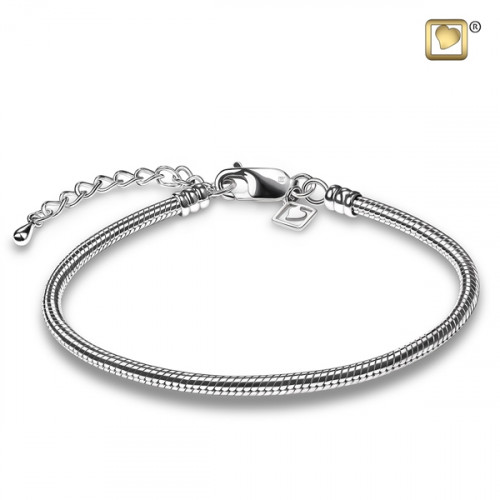 Sterling Silver Cremation Jewelry Snake Chain Bracelet Solutions