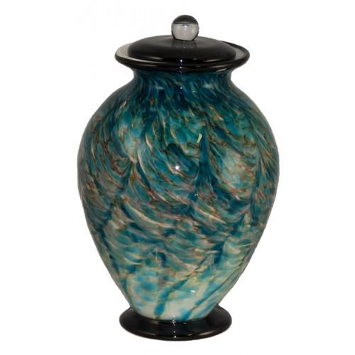 Amato Aegean Hand Blown Glass Cremation Urn