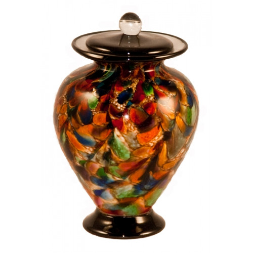 Amato Autumn Hand Blown Glass Pet Cremation Urn