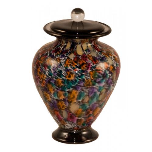 Amato Desert Hand Blown Glass Pet Cremation Urn