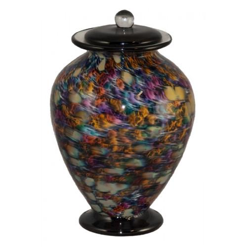 Amato Desert Hand Blown Glass Cremation Urn