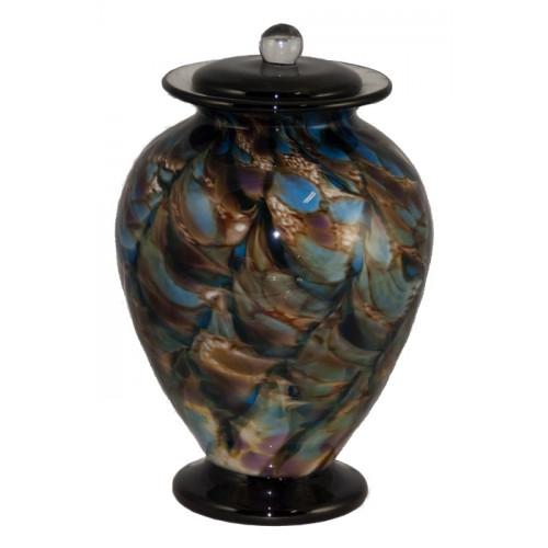 Amato Evening Hand Blown Glass Cremation Urn