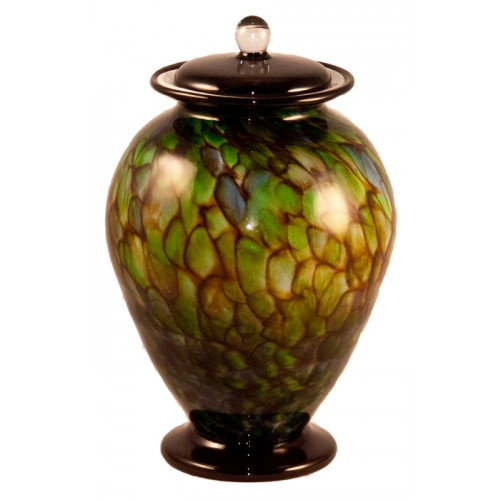 Amato Forest Hand Blown Glass Cremation Urn