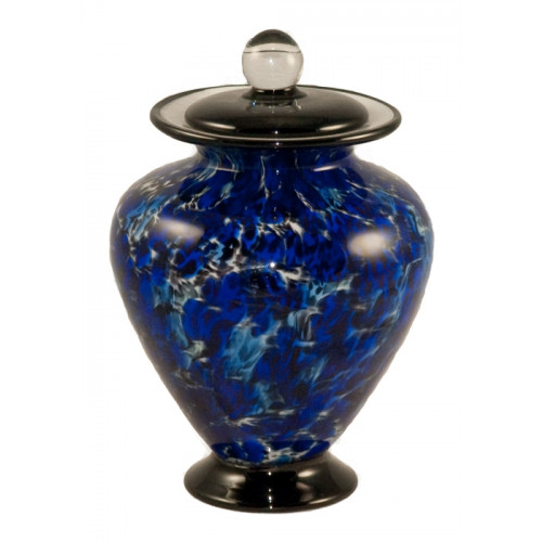 Amato Water Hand Blown Glass Pet Cremation Urn