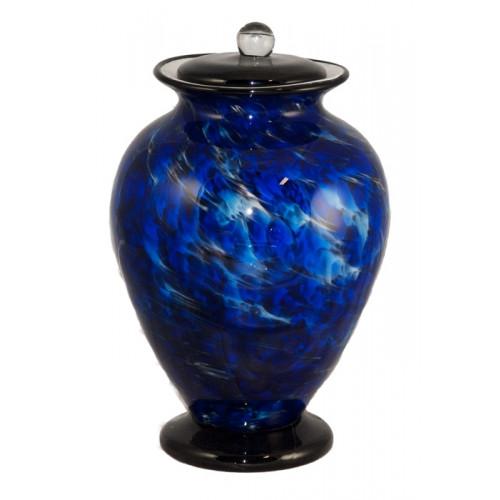 Amato Water Hand Blown Glass Cremation Urn