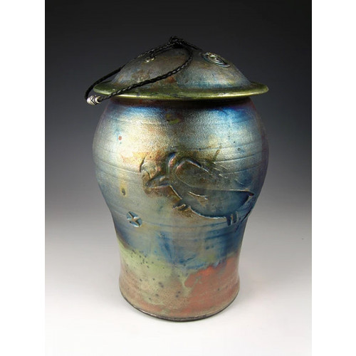Animal Spirit Urn Cremation Ashes Raku Ceramic