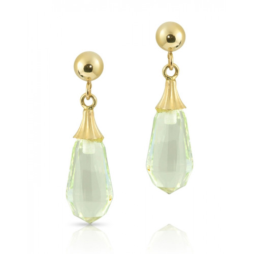 Crystal Tender Teardrop Earrings