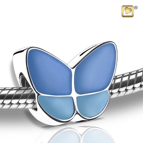 Wings of Hope Blue Butterfly Cremation Bead