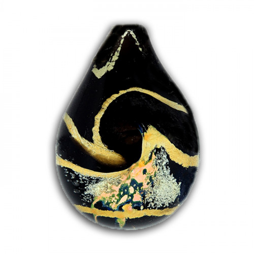 Black and Gold Celestial Cremation Pendant