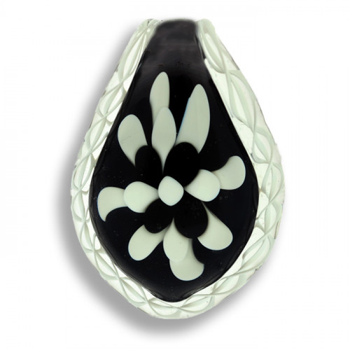 Black and White Cremation Pendant
