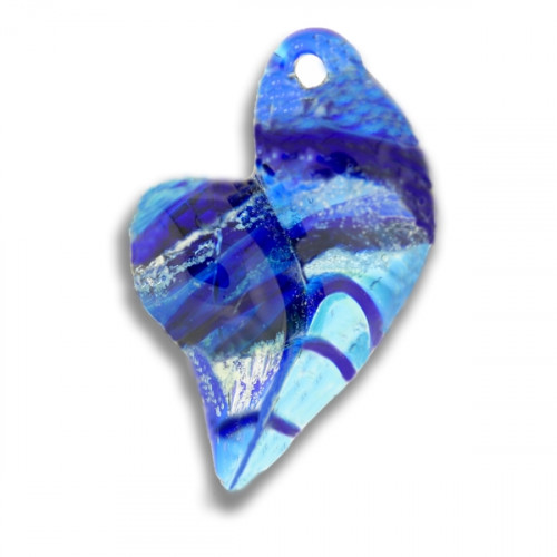 Blue is My Heart Cremation Pendant
