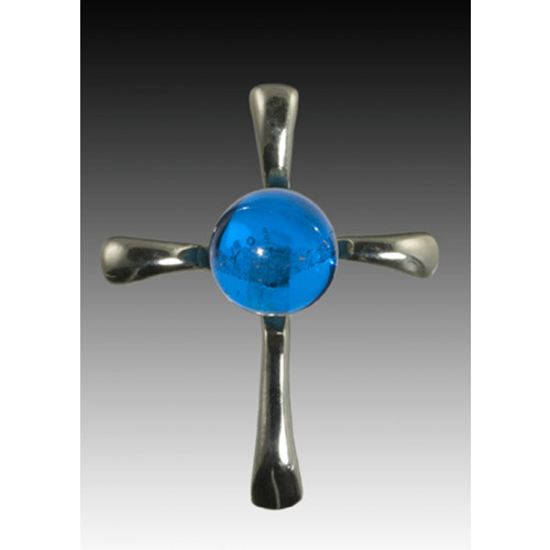 Symphony Cross Pendant - Blue - Sterling Silver