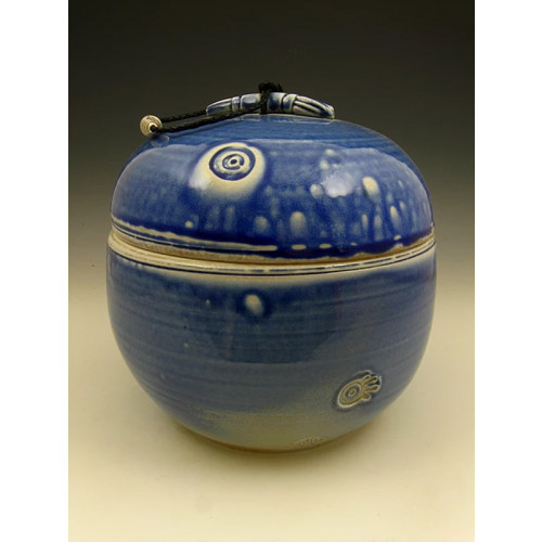 The Blue World Soda Fired Ceramic Cremation Urn