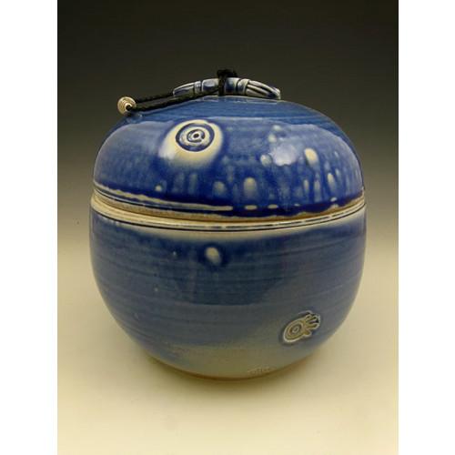 The Blue World Soda Fired Urn