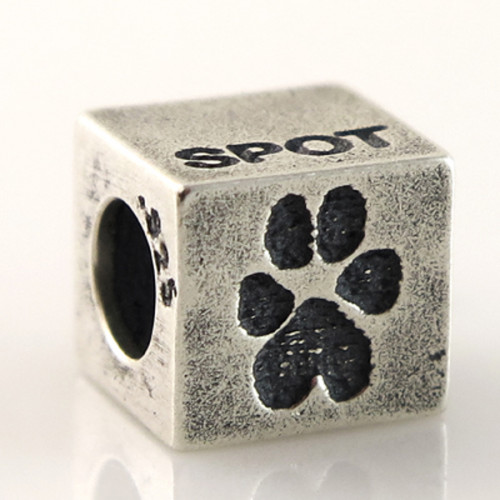 Buddies Cube Bead Pet Print Charm