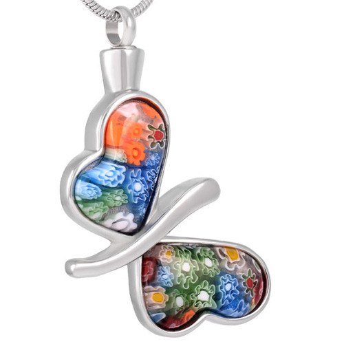 Butterfly Colored Cremation Pendant