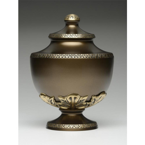Chestnut Brown Chalice Cremation Urn for Ashes