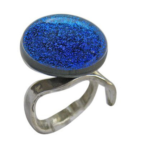 CL Silver and Blue Ring