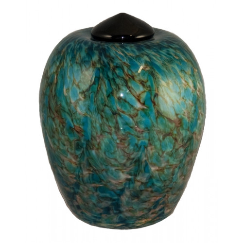 Classico Aegean Hand Blown Glass Cremation Urn