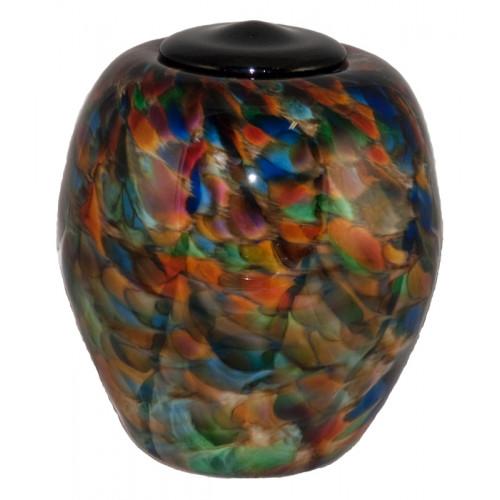 Classico Autumn Hand Blown Glass Cremation Urn