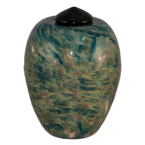 Classico Sky Hand Blown Glass Cremation Urn