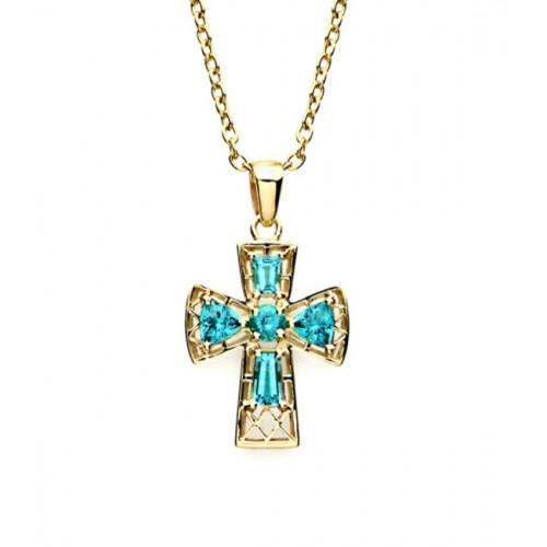 Crystal Tranquility Cross Pendant