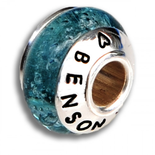 Crystal Blue Cremation Bead