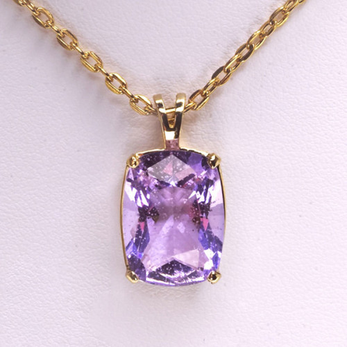 Crystal Never Forgotten Cushion Cut Pendant