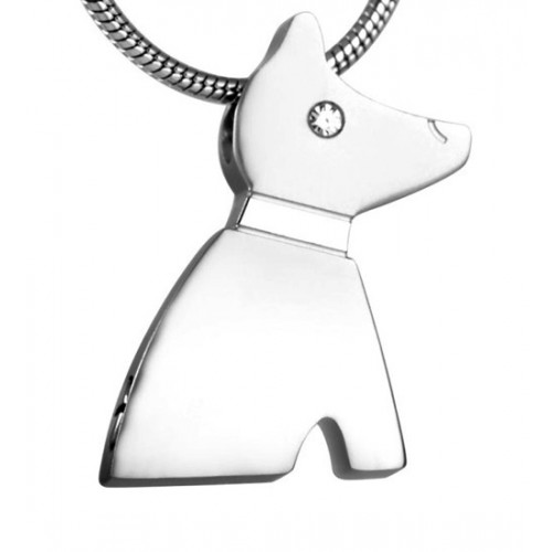 Dog Silhouette Cremation Pendant