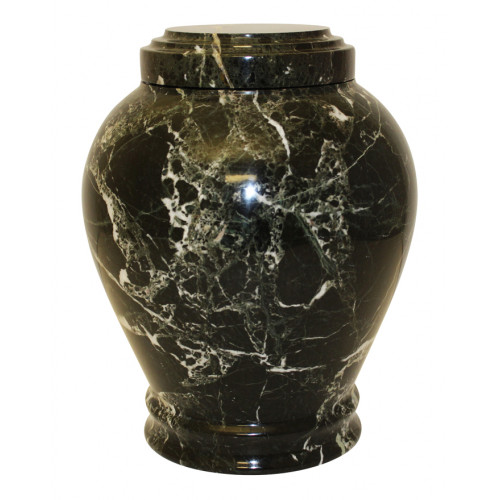 Embrace Green Zebra Cremation Urn Marble Stone
