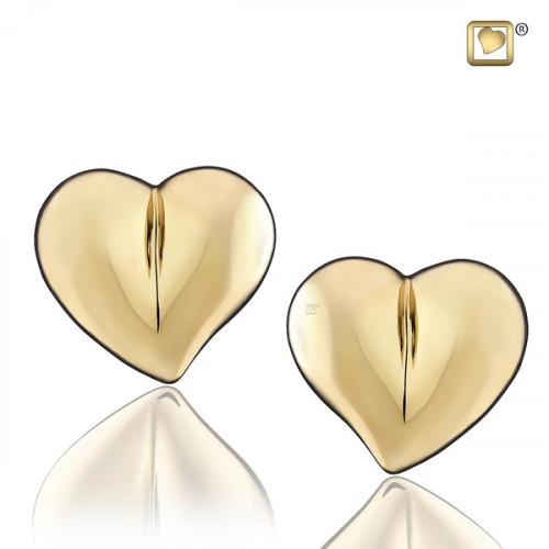 Gold LoveHeart Stud Earrings
