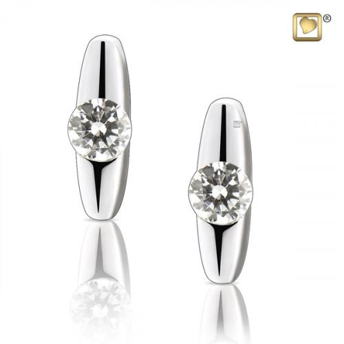 Silver Hope Stud Earrings